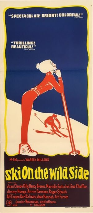ski on the wild side australian daybill poster 1967