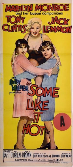 some like it hot australian daybill poster marilyn monroe jack lemon tony curtis 1959