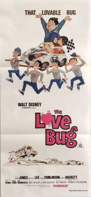 the love bug australian daybill poster 1979 rerelease herbie