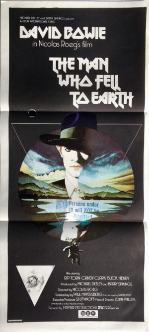 the man who fell to earth australian daybill poster david bowie