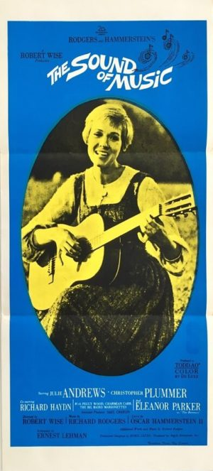 the sound of music australian daybill poster 1965 featuring julie andrews