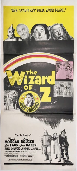 the wizard of oz australian daybill poster re-release 1970's