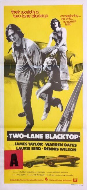 two lane blacktop australian daybill poster 1971