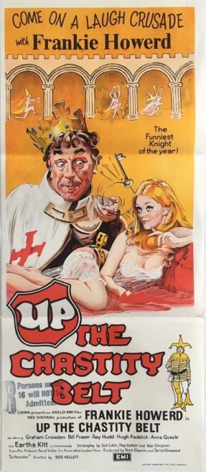 up the chastity belt australian daybill poster 1971 featuring frankie howerd