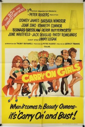 carry on girls australian one sheet poster 1973