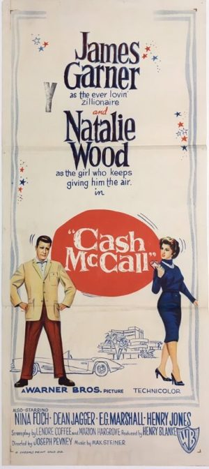 cash mccall daybill poster staring james garner and natalie wood 1960