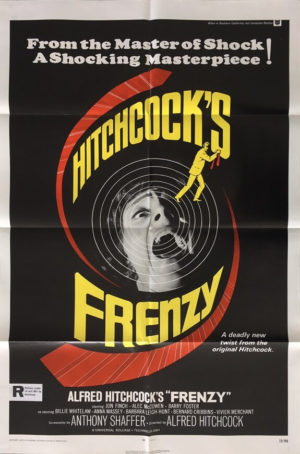 frenzy one sheet movie poster directed by alfred hitchcock