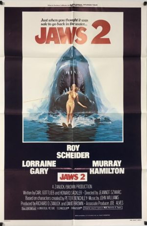 jaws 2 US one sheet poster 1978