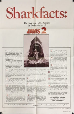 jaws 2 sharkfacts US one sheet advance poster 1978