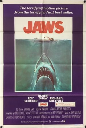 jaws australian one sheet poster from 1975