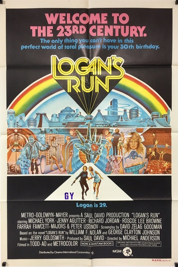 logans run australian one sheet poster 1976