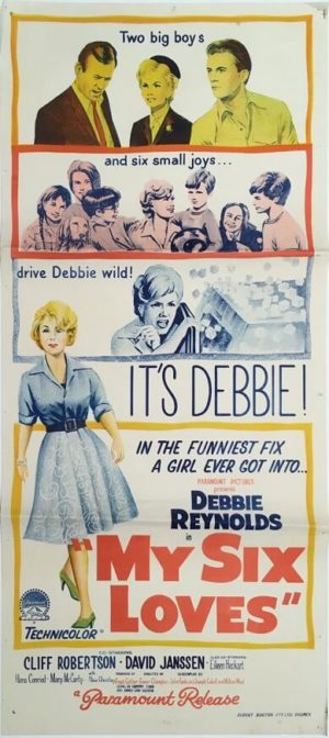my six loves daybill movie poster 1963 staring debbie reynolds