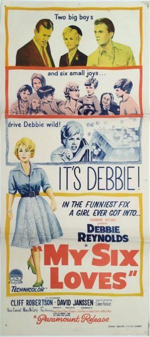my six loves daybill movie poster 1963 staring debbie reynolds
