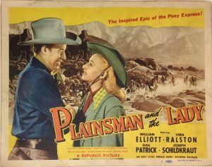 plainsman and the lady 1946 lobby card title card
