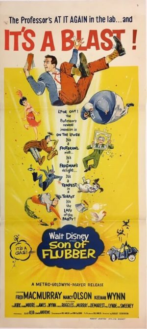 son of flubber daybill poster walt disney movie staring fred macmurray