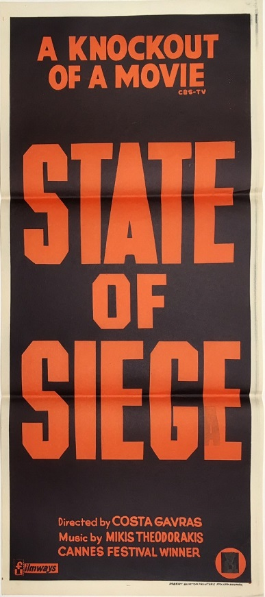 state of siege daybill poster 1972