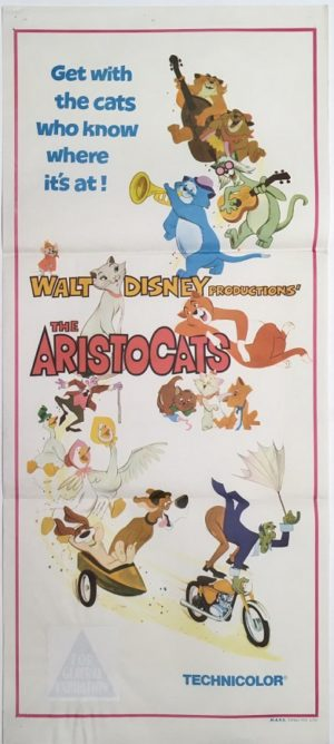 the aristocats australian daybill poster walt disney