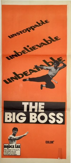 the big boss daybill poster staring bruce lee