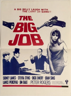 the big job new zealand dayill movie poster starring sidney james, joan sims and sylvia syms