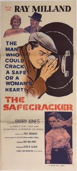 the safecracker daybill poster 1958 staring ray milland