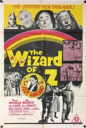 the wizard of oz australian one sheet poster from the 1970s rerelease