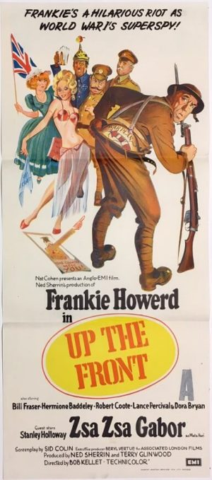 up the front daybill poster with frankie howerd