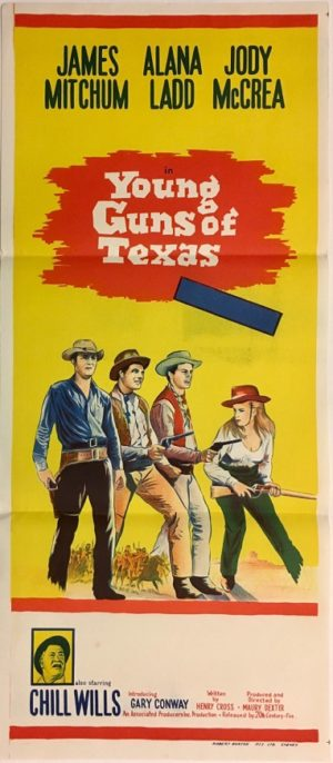 young guns of texas western daybill poster