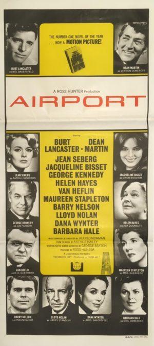 airport daybill poster 1970 featuring dean martin and burt lancaster