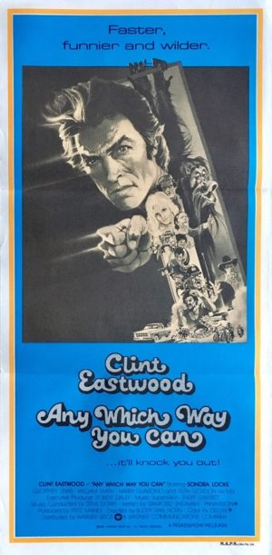 any which way you can australian daybill poster featuring clint eastwood 1980