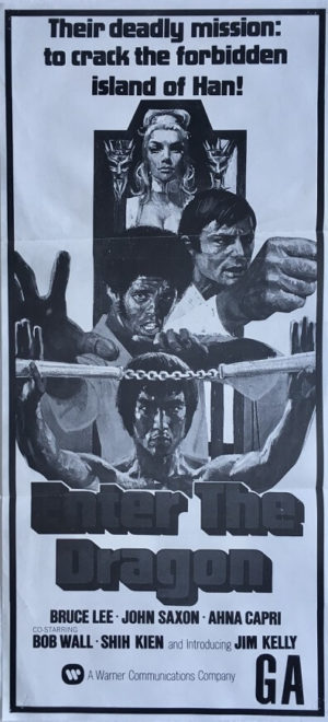 enter the dragon new zealand daybill poster staring bruce lee 1973