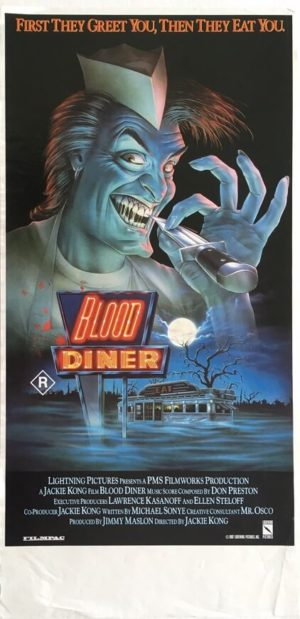 blood diner australian daybill poster 1987 by Bill Morrison