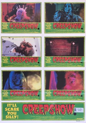 creepshow 1982 australian lobby one sheet movie poster very rare