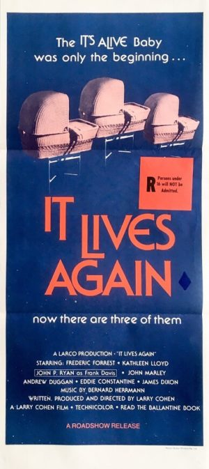 it lives again australian horror movie daybill poster