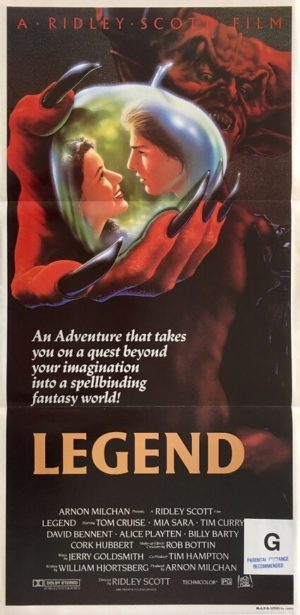 legend australian daybill poster featuring tom cruise