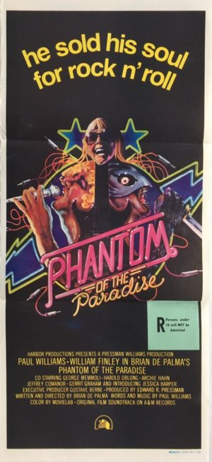 phantom of the paradise daybill poster, directed by brian de palma