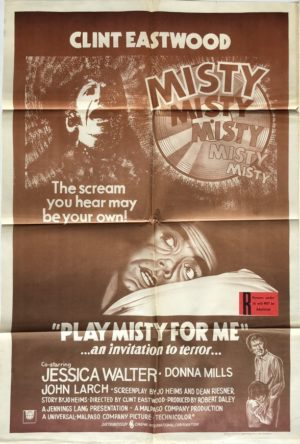 play misty for me australian one sheet movie poster 1971 clint eastwood