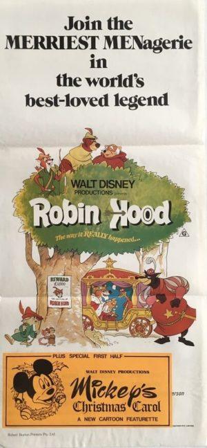 robin hood walt disney australian daybill poster 2