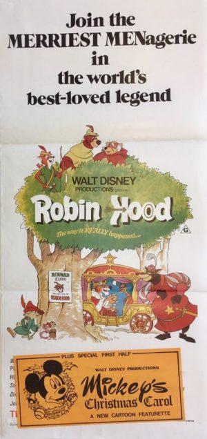robin hood walt disney australian daybill poster