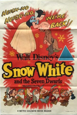 snow white 1960 australian one sheet movie poster