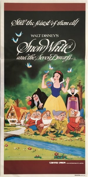 snow white and the seven dwarfs australian daybill poster