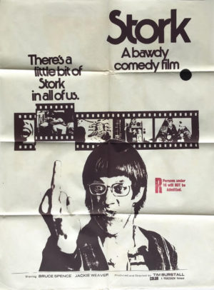 stork 1971 australian one sheet movie poster featuring bruce spence (1)