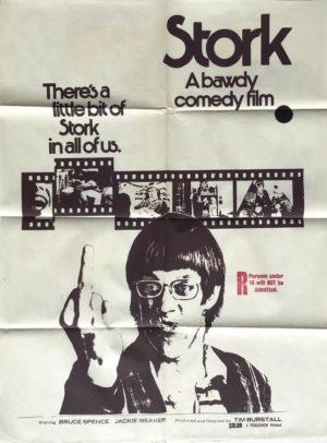 stork 1971 australian one sheet movie poster featuring bruce spence (1)