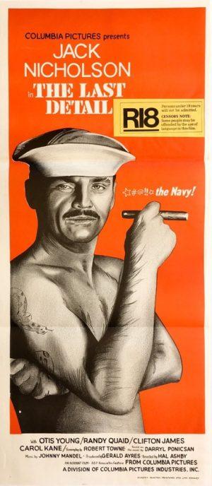 the last detail australian daybill movie poster featuring jack nicholson