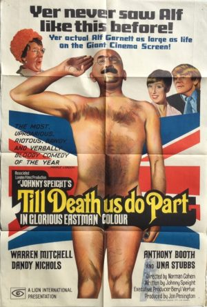 till death us do part australian one sheet poster featuring alf garnett