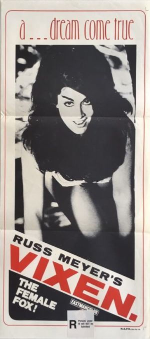 vixen australian daybill movie poster directed by russ meyer