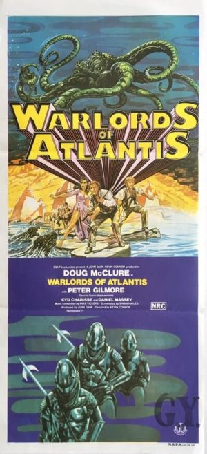 warlords of atlantis australian daybill poster