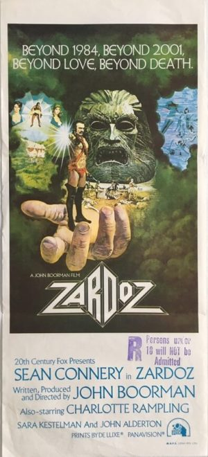 zardoz australian daybill movie poster featuring sean connery