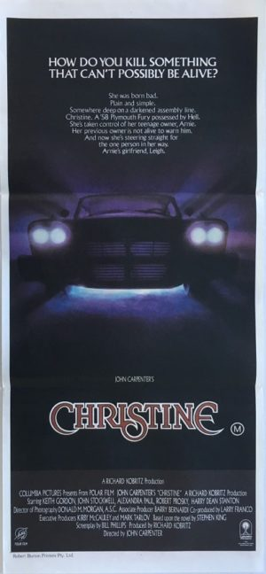 christine australian daybill poster written by steven king 1983