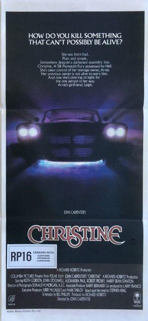 christine australian daybill poster 1983 written by steven king