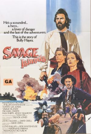 savage islands 1983 UK and New Zealand One Sheet Poster featuring Tommy Lee Jones